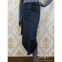 《BY TERRY佳衯自創》不規則側螺旋抓褶半身裙